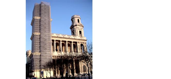 サン・シュルピス教会北塔の修復がやっと終了。