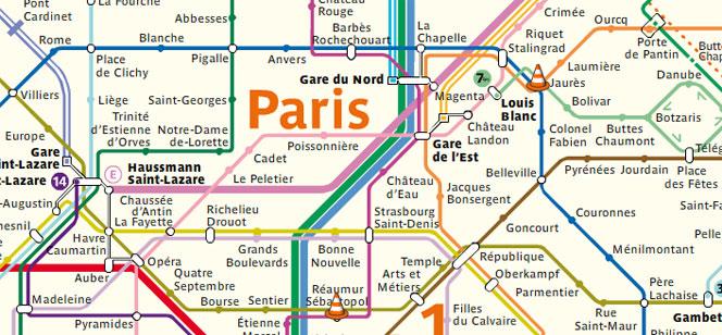 パリのメトロ運行状況・ストライキ・工事情報