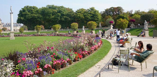 夏の終わりのリュクサンブール公園