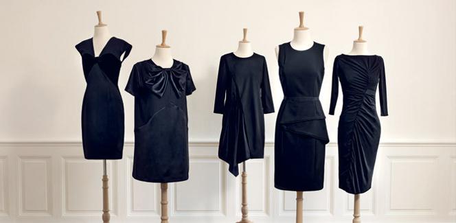 モノプリの新コラボは人気デザイナーたちのブラックドレス