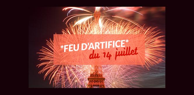 革命記念日(7月14日)の花火@エッフェル塔!