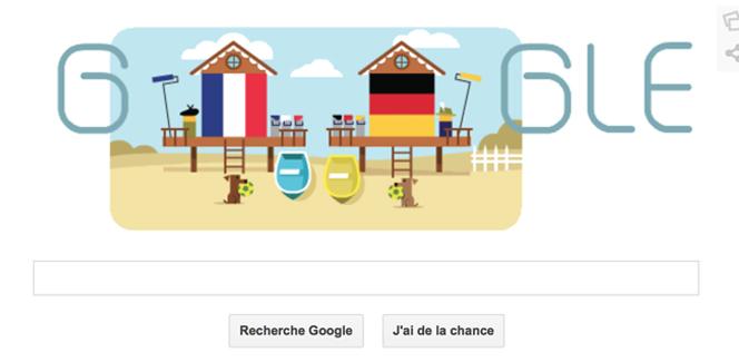 Doodleのフランス対ドイツ仕様がかわいい。