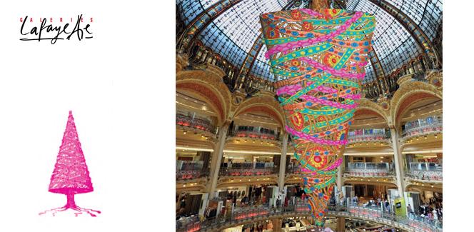 パリのクリスマス情報2014 その1:ギャラリー・ラファイエット、今年のツリーは前代未聞の…!?