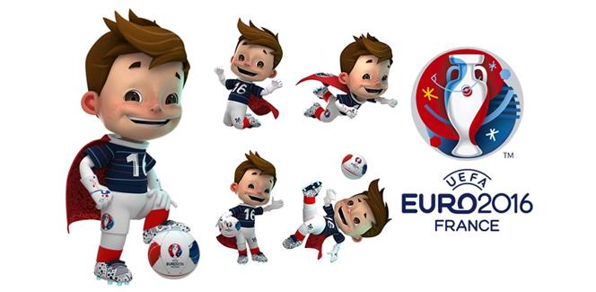 フランス開催のサッカー欧州選手権2016のマスコット発表!