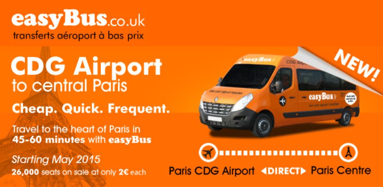 片道たった2ユーロ!格安シャトルバス「イージーバス」がパリに登場。