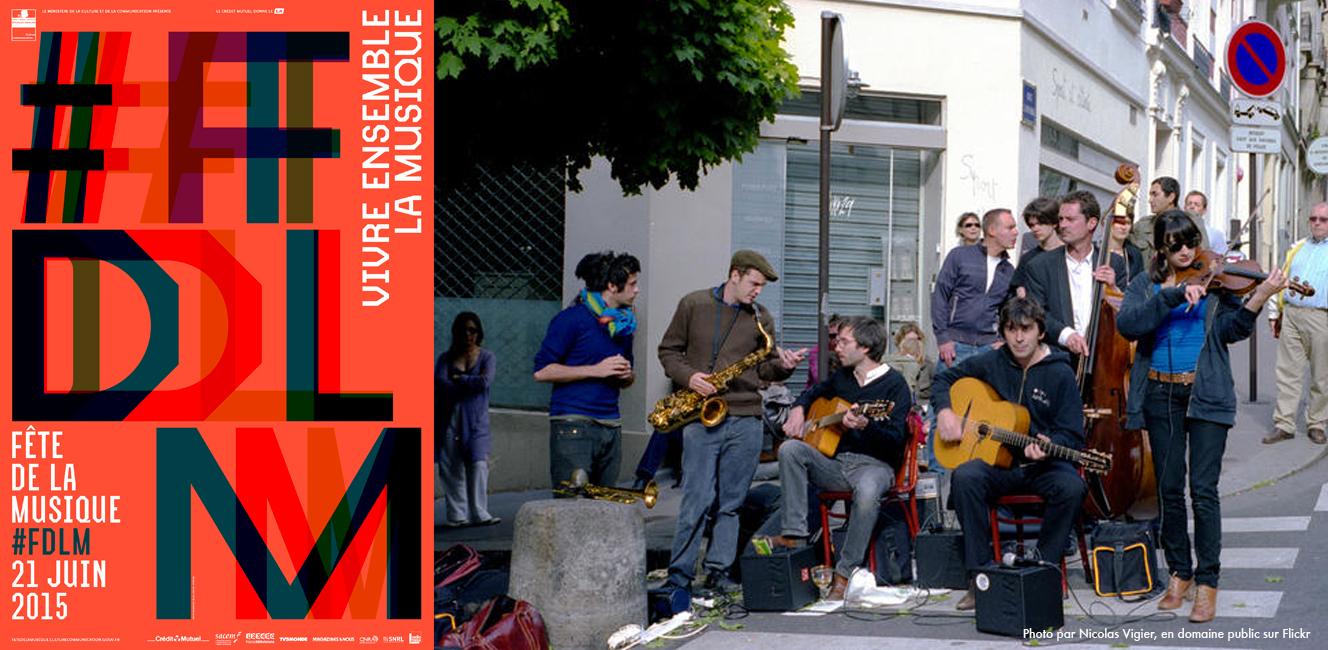 音楽の祭日「Fête de la Musique」が今年も6月21日に開催