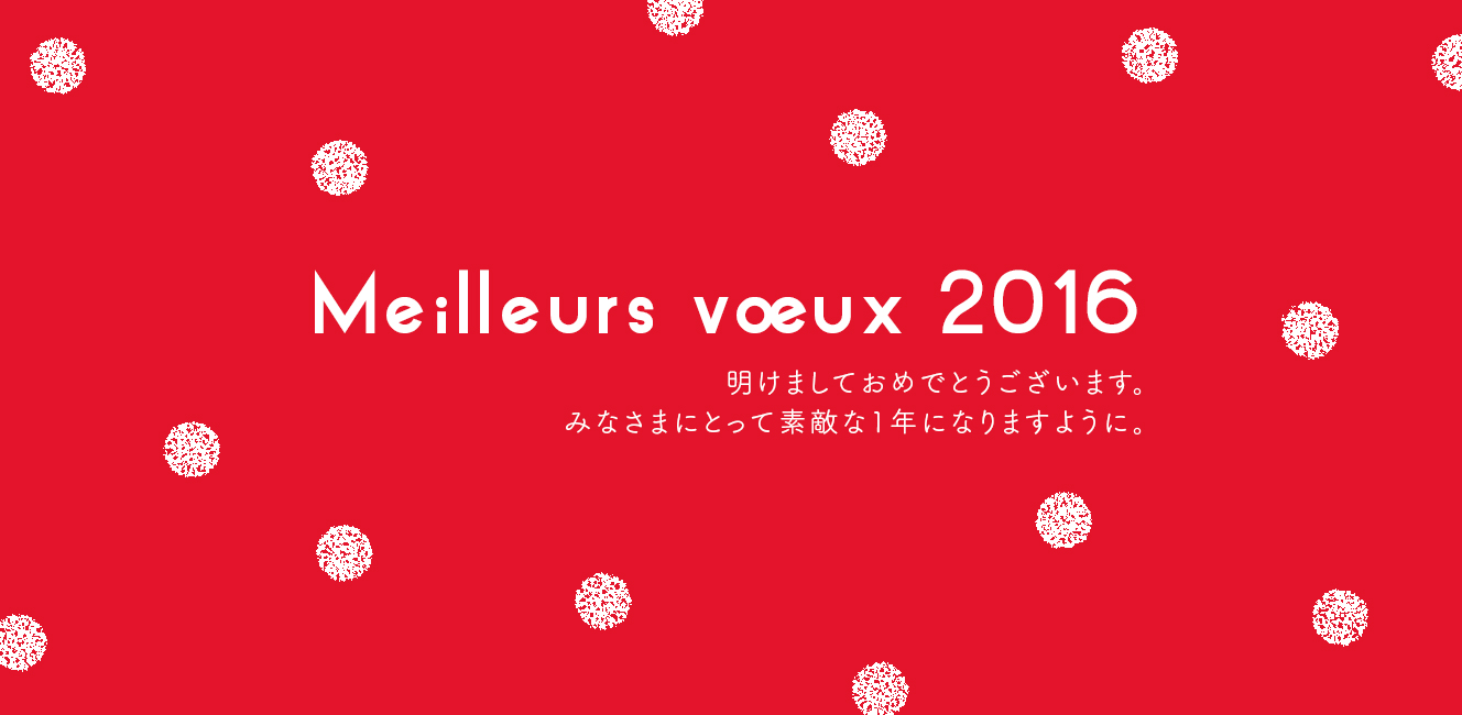 Meilleurs voeux 2016 明けましておめでとうございます!