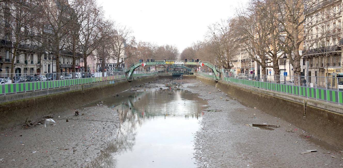 サン・マルタン運河の水がなくなった!