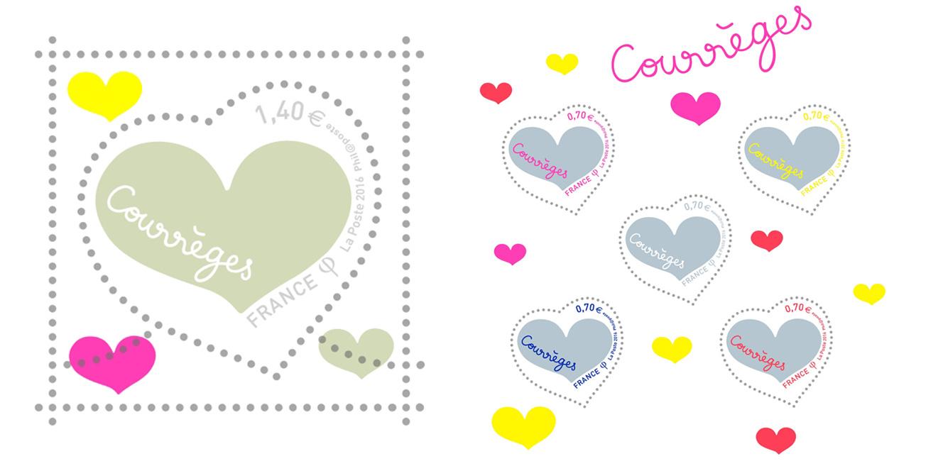 今年のバレンタイン切手はクレージュ!