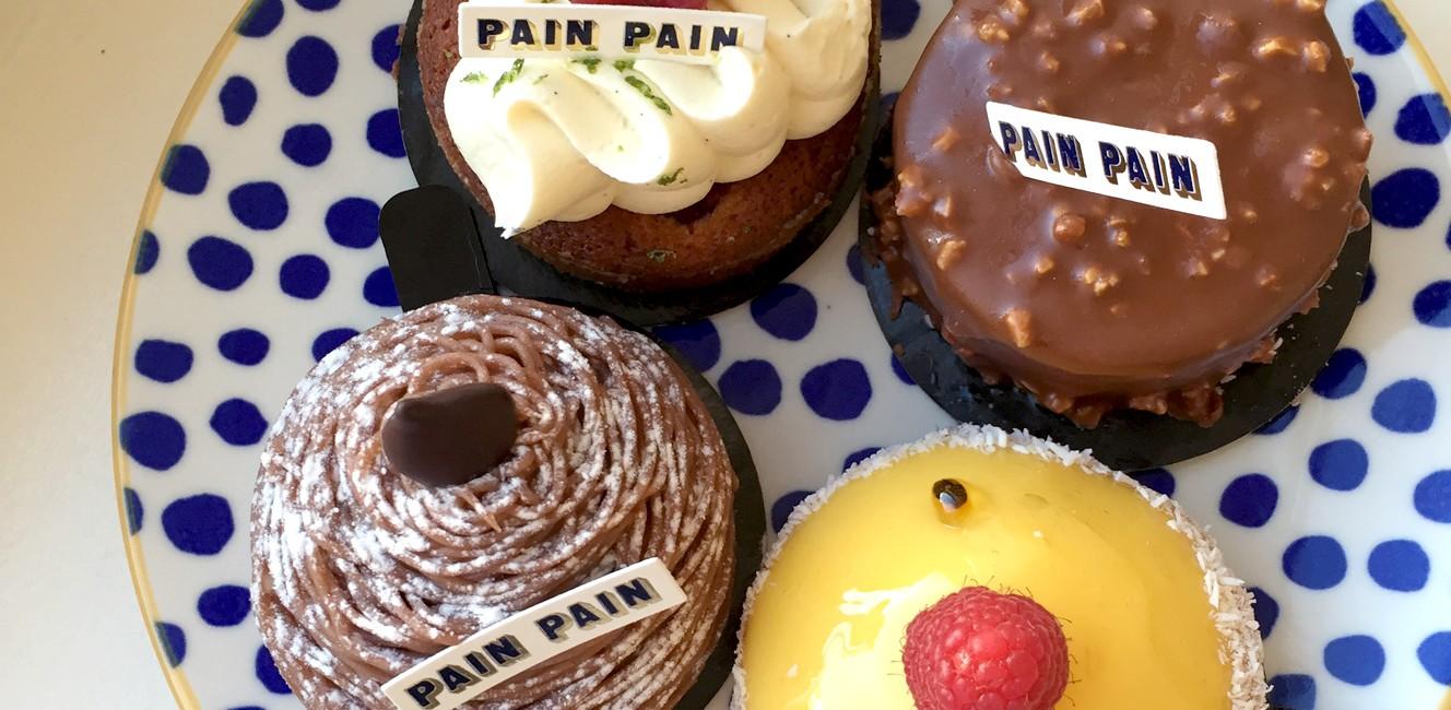 モンマルトルのパティスリー Pain Painのケーキ