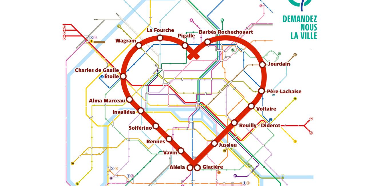 パリのメトロをハート型にめぐるロマンティックなコース!
