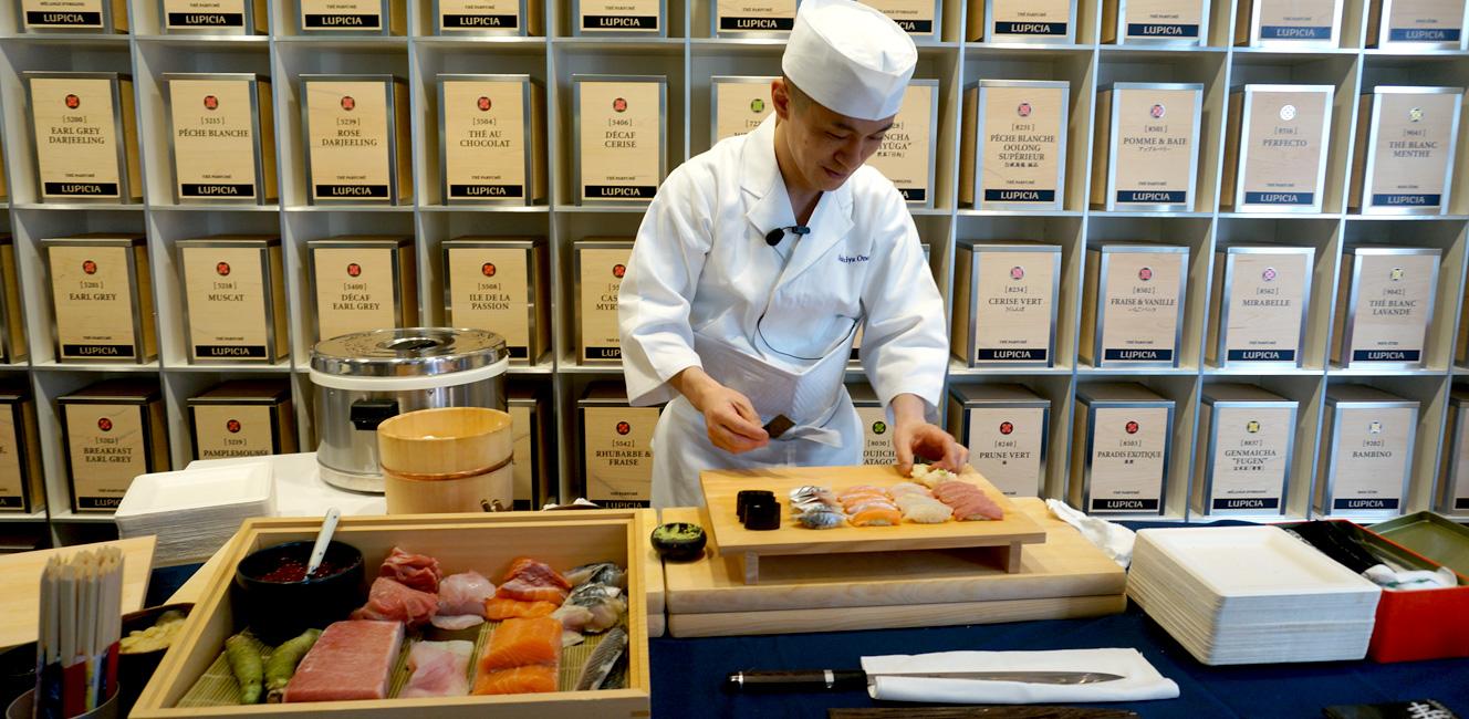 パリのルピシアで「お茶とお鮨のマリアージュ」体験〜!