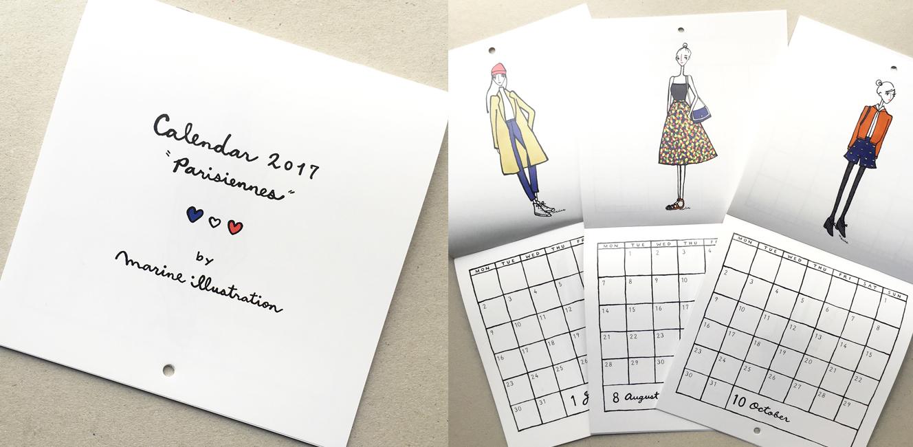 2017年はパリジェンヌのカレンダーと一緒に!