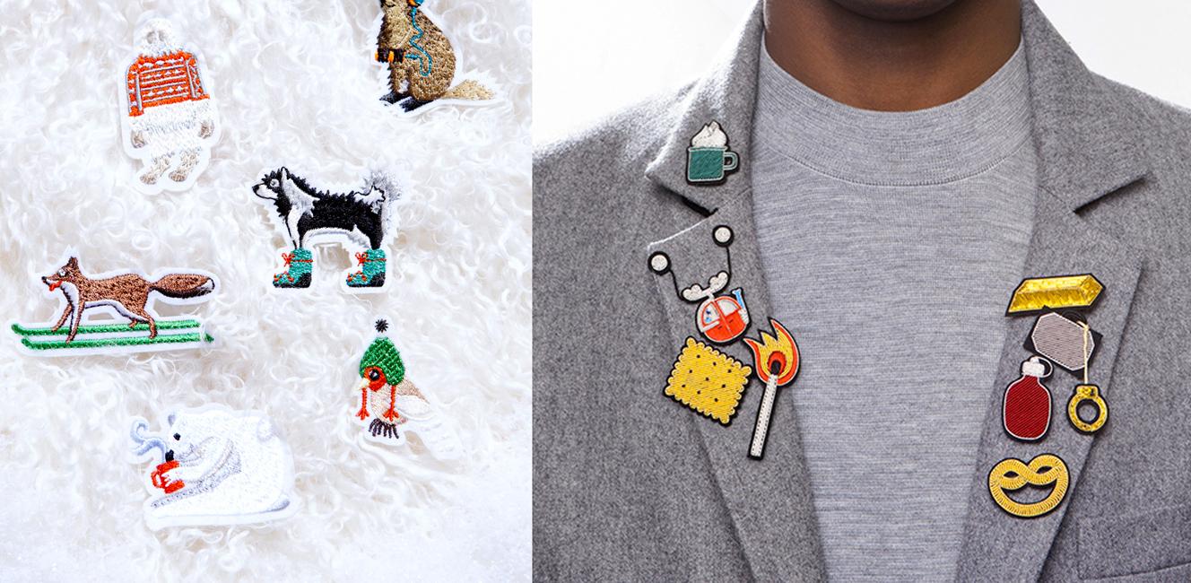 胸元でストーリーを語るパリ生まれの刺繍ビジュー「マコン・エ・レスコアの刺繍ブローチ&ワッペン」|[フランスの新・定番品]