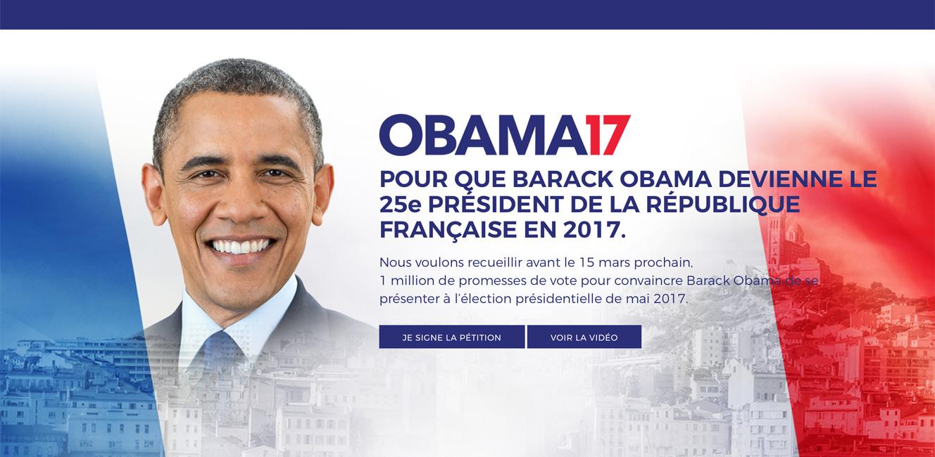 オバマ前大統領を次期フランス大統領に!?5万人の署名集まる