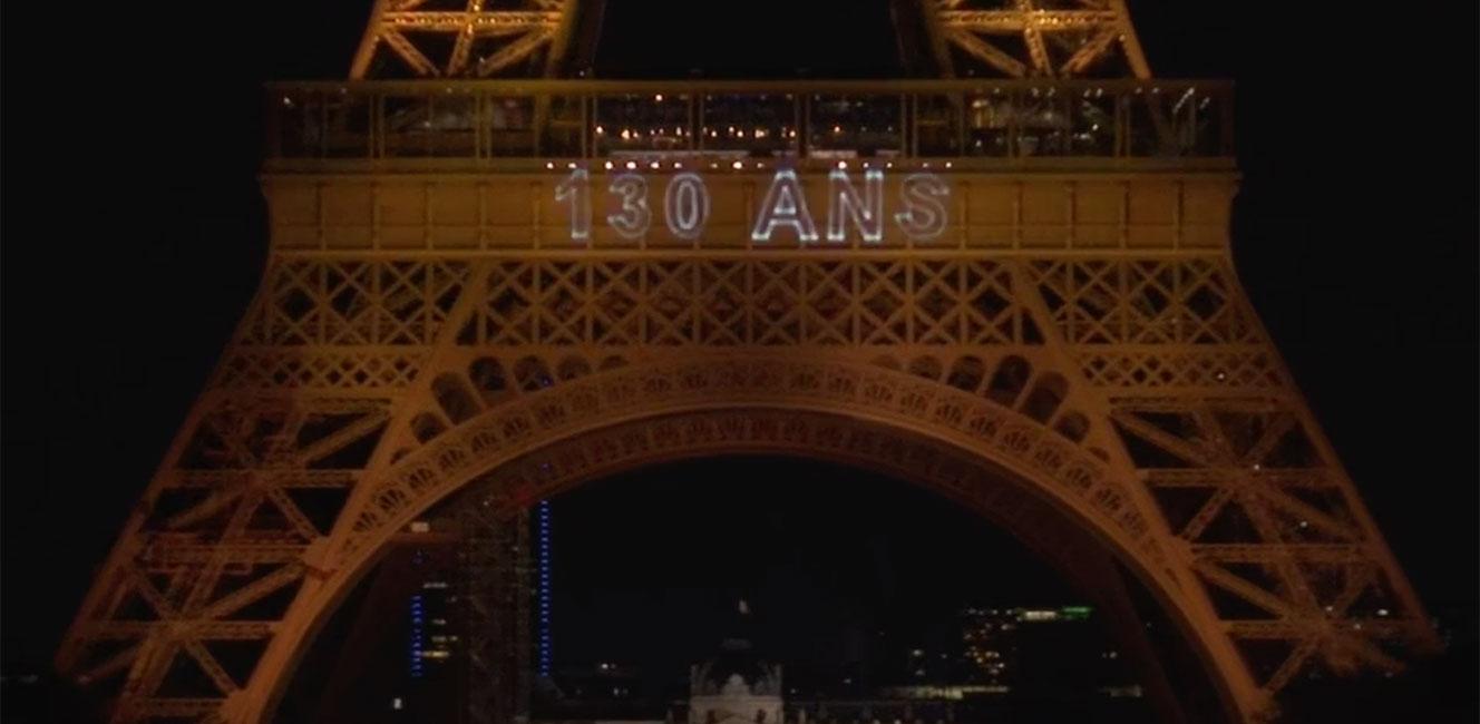 エッフェル塔130周年を祝う光のスペクタクル✨